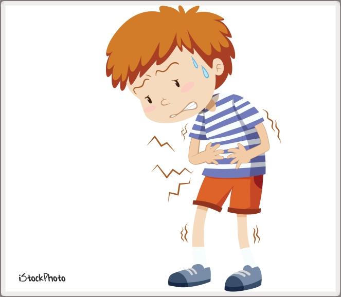 Little boy having stomachache