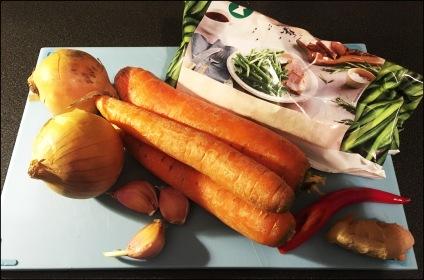 Grønnsakene-Høyryggsuppe