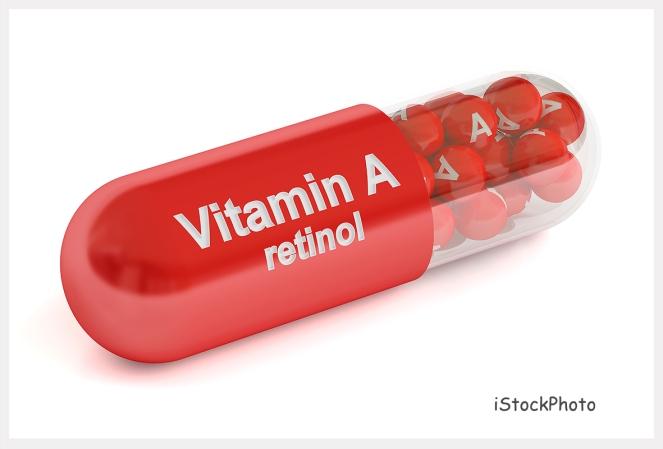 Vitamin A capsule , 3D rendering
