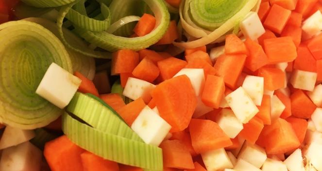 Grønnsakene-Oppdelt